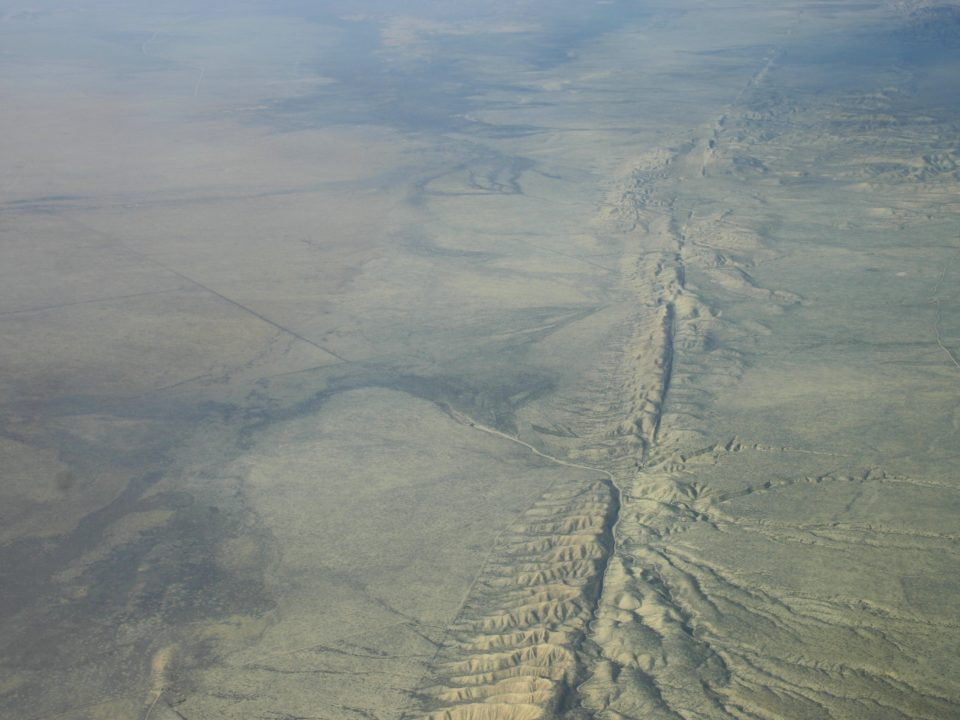 Aerial view San Andreas Fault