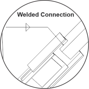 friction damper welded connection